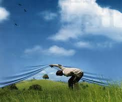 img man looking under sky horizon